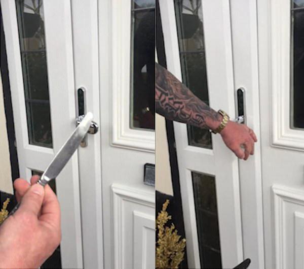 dễ dàng mở được cánh cửa UPVC bằng cách sử dụng một con dao.