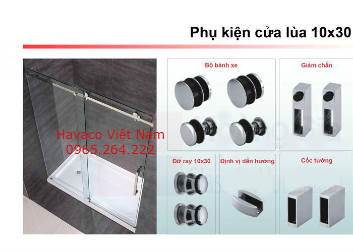 Phụ kiện cửa kính cường lực vvp cho cửa lùa 10x30