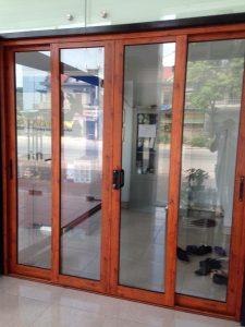 Cửa nhôm Xingfa hệ 93 vân gỗ