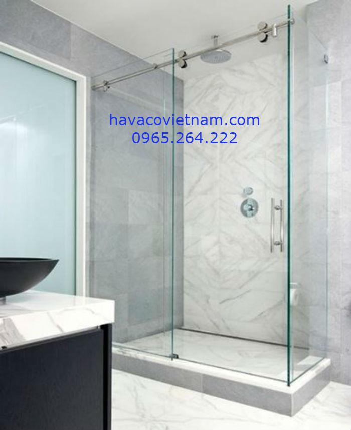 Cabin phòng tắm cửa kính ray treo d10x30