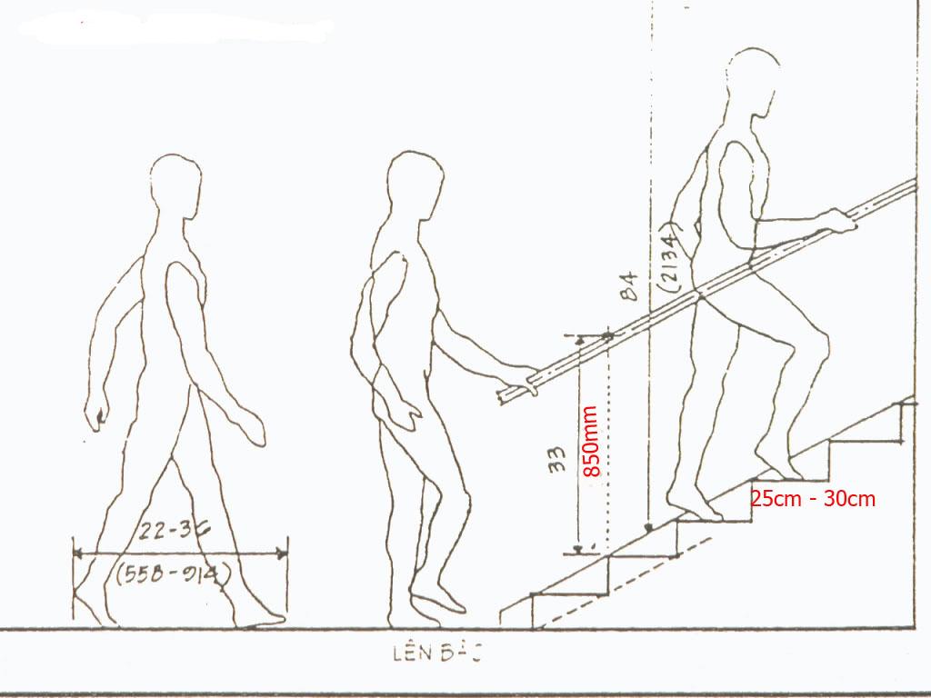 Chiều cao tay vị cầu thang