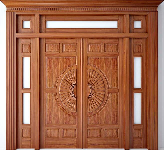 Cửa gỗ tự nhiên cho cửa chính