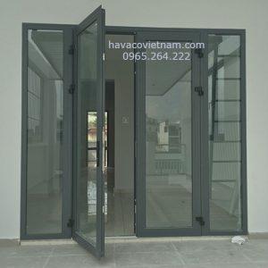 Mẫu cửa nhôm Xingfa màu ghi