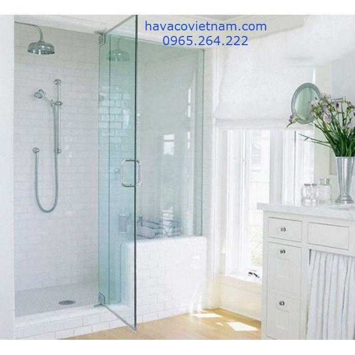 cửa kính cường lực nhà tắm mở quay