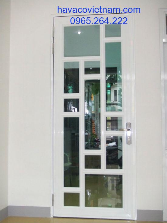 Cửa nhôm xingfa nhập khẩu 1 cánh chia kính đố nghệ thuật