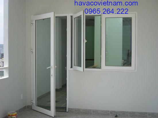 Cửa nhôm Xingfa 1 cánh thông phòng kết hợp cửa sổ