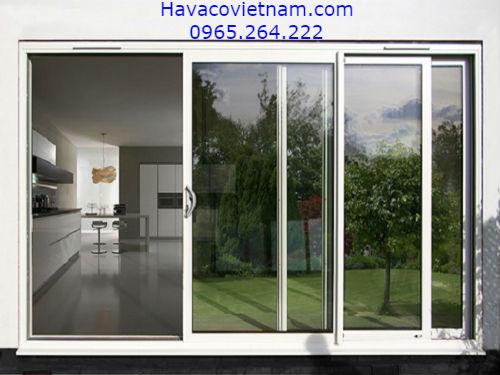 Mẫu cửa nhôm màu trắng sứ - HAVACO