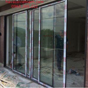 Hình ảnh cửa nhôm Xingfa hệ 93 tại công trình