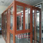 Cửa nhôm Xingfa màu gỗ