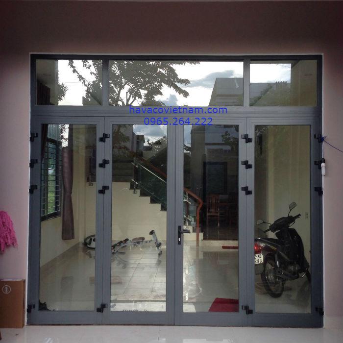 Cửa nhôm Xingfa màu ghi