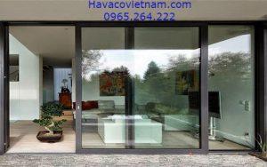 Mẫu cửa nhôm màu đen - HAVACO