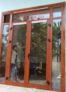 Cửa nhôm giả gỗ đẹp Xingfa