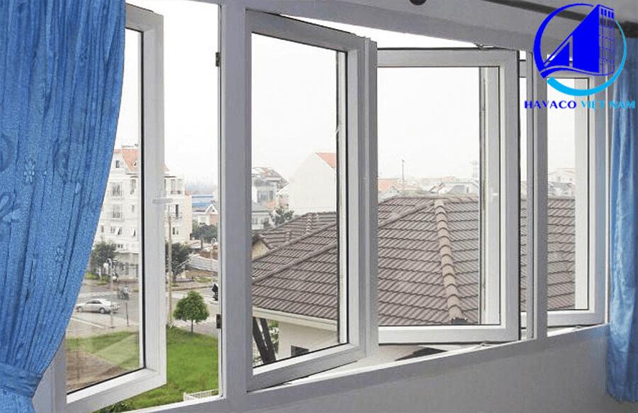cửa sổ nhôm xingfa 4 cánh hệ 55