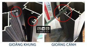 Gioăng EPDM lắp cho cửa nhôm Xingfa
