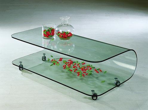 Mặt bàn uốn cong nghệ thuật đẹp