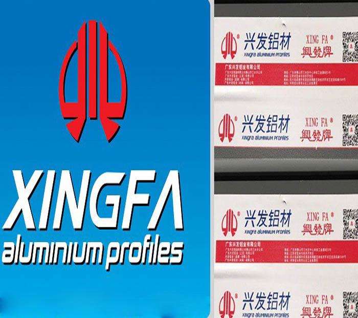 Logo nhôm Xingfa tem đỏ