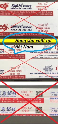 Cửa nhôm Xingfa trong nước được đùn tại Việt Nam