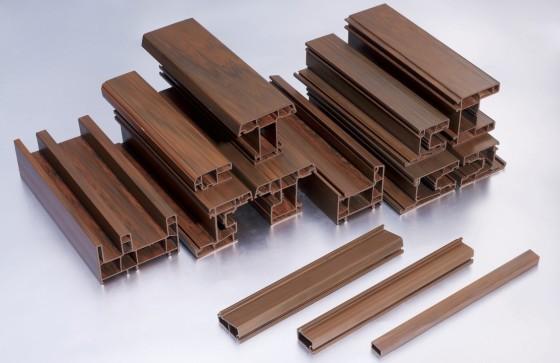 Thanh nhựa uPVC đùn nguyên khối vân gỗ