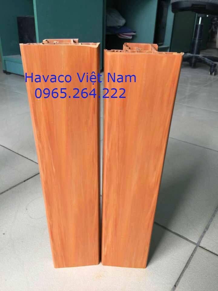 Thanh nhựa upvc vân gỗ Sparlee profile